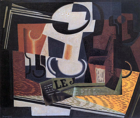 Juan Gris Still Life with Fruit Bowl - Canvas Art Print