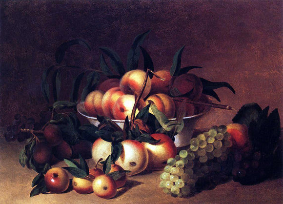 James Peale Still Life with Fruit - Canvas Art Print