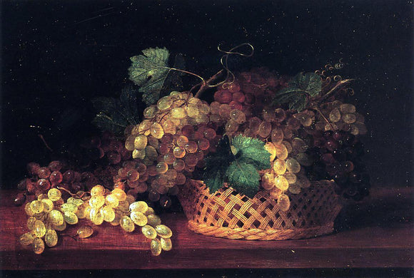 James Peale Still Life with Grapes - Canvas Art Print