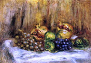 Pierre Auguste Renoir Still Life with Grapes - Canvas Art Print