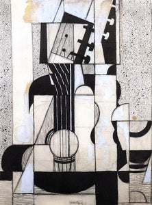 Juan Gris Still Life with Guitar - Canvas Art Print