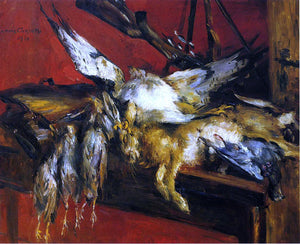 Lovis Corinth Still Life with Hare and Partridges - Canvas Art Print