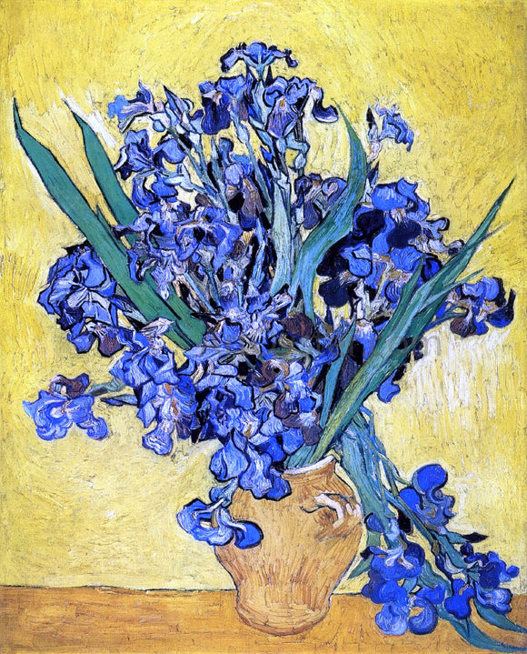 Vincent Van Gogh A Still Life with Irises - Canvas Art Print