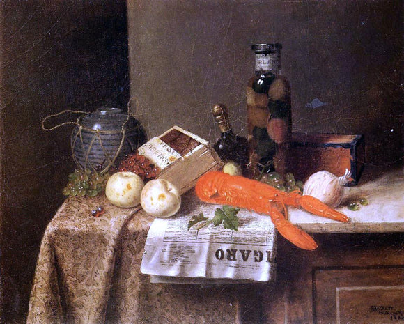 William Michael Harnett Still Life with 'Le Figaro' - Canvas Art Print