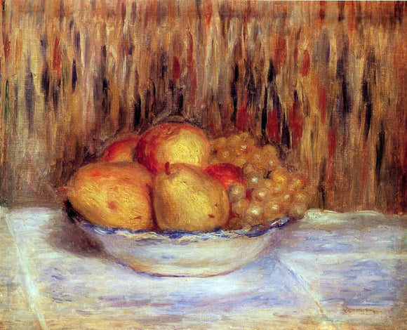Pierre Auguste Renoir Still Life with Pears and Grapes - Canvas Art Print