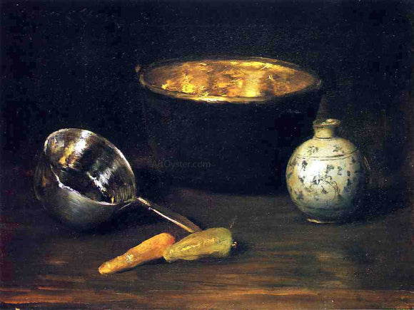 William Merritt Chase Still Life with Pepper and Carrot - Canvas Art Print