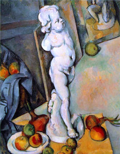 Paul Cezanne Still Life with Plaster Cupid - Canvas Art Print