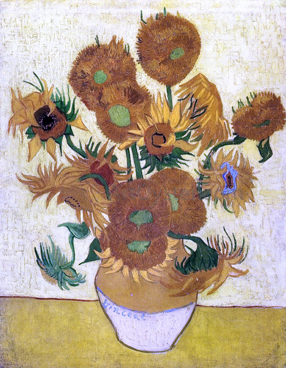 Vincent Van Gogh A Still Life with Sunflowers - Canvas Art Print