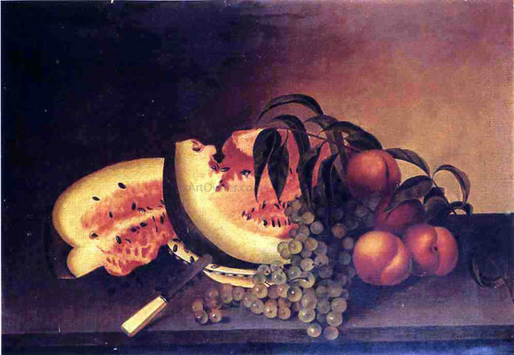 Rubens Peale Still Life with Watermelon - Canvas Art Print