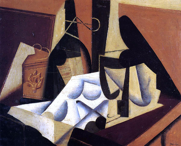 Juan Gris Still Life with White Tablecloth - Canvas Art Print