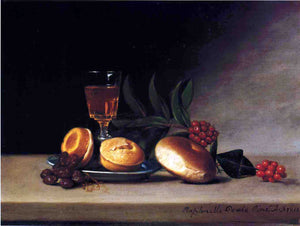 Raphaelle Peale Still Life with Wine Glass - Canvas Art Print