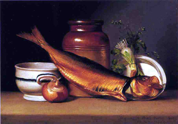 Raphaelle Peale Still Life with Dried Fish (also known as A Herring) - Canvas Art Print