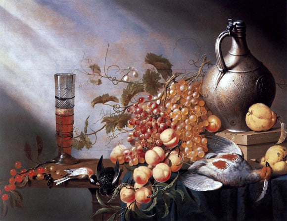 Harmen Steenwijck Still-Life of Fruit and Dead Fowl - Canvas Art Print