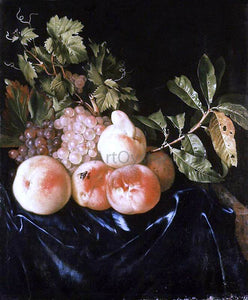 Willem Frederik Van Royen Still-Life of Peaches and Grapes - Canvas Art Print