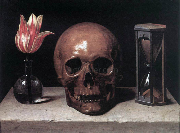 Philippe De Champaigne Still-Life with a Skull - Canvas Art Print