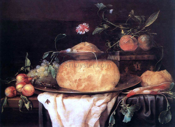 Joris Van Son Still-Life with Cheese - Canvas Art Print