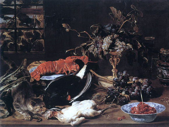 Frans Snyders Still-life with Crab and Fruit - Canvas Art Print