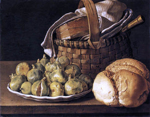 Luis Meléndez Still-Life with Figs - Canvas Art Print