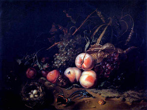 Rachel Ruysch Still-Life with Fruit and Insects - Canvas Art Print