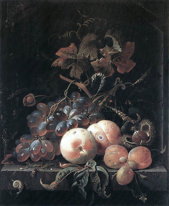 Abraham Mignon Still-Life with Fruits - Canvas Art Print