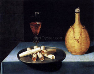 Lubin Baugin Still-Life with Wafer Biscuits (Le Dessert de Gaufrettes) - Canvas Art Print