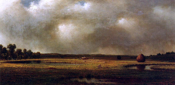 Martin Johnson Heade Storm over the Marshes - Canvas Art Print