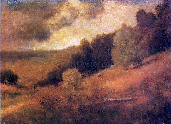George Inness Stormy Day - Canvas Art Print