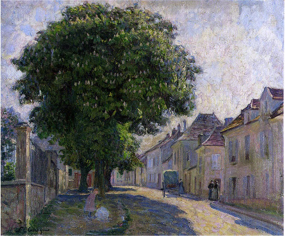 Henri Lebasque Street in the Village - Canvas Art Print