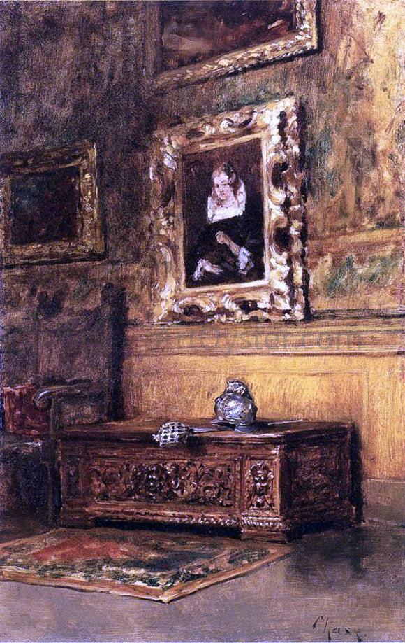 William Merritt Chase Studio Interior - Canvas Art Print