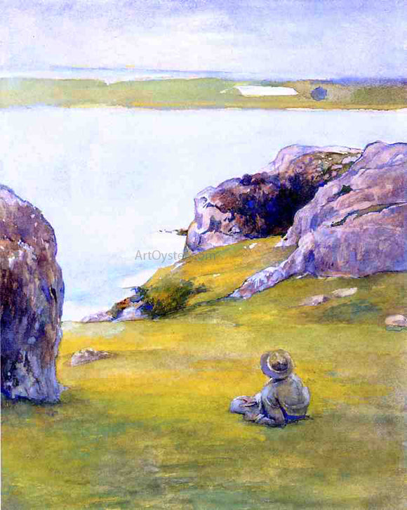 John La Farge Study at Brenton's Cove, Newport, Looking towards Fort Adams - Canvas Art Print