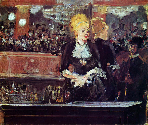 Edouard Manet Study for 'A Bar at the Folies-Bergere' - Canvas Art Print