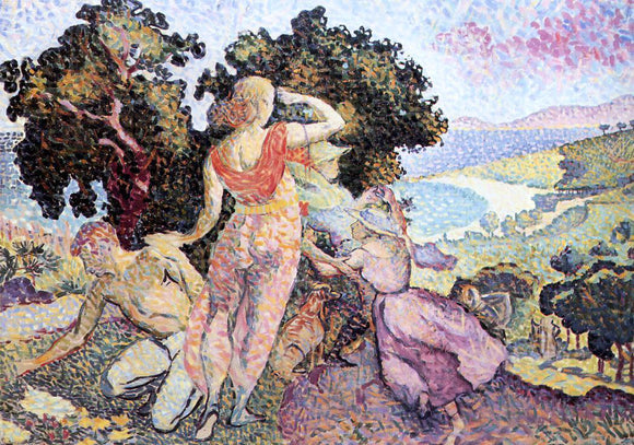 Henri Edmond Cross Study for 'Excuirsion' - Canvas Art Print