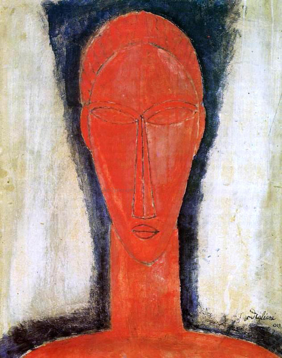 Amedeo Modigliani Study of a Head - Canvas Art Print