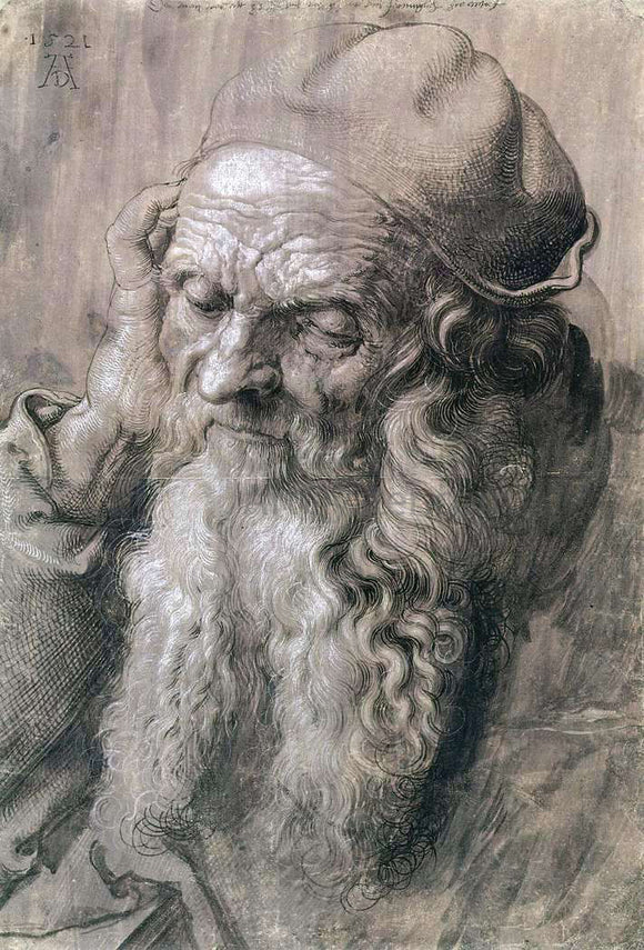 Albrecht Durer Study of a Man Aged 93 - Canvas Art Print