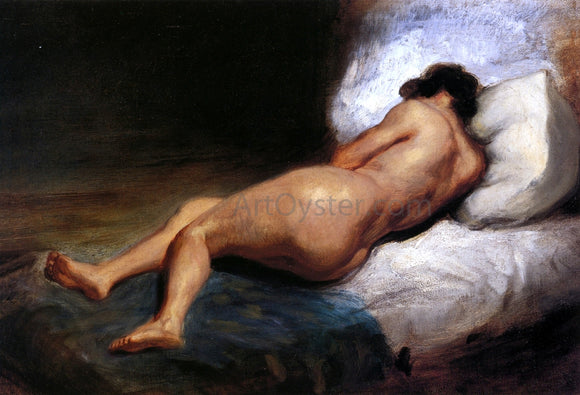 Eugene Delacroix Study of a Reclining Nude - Canvas Art Print