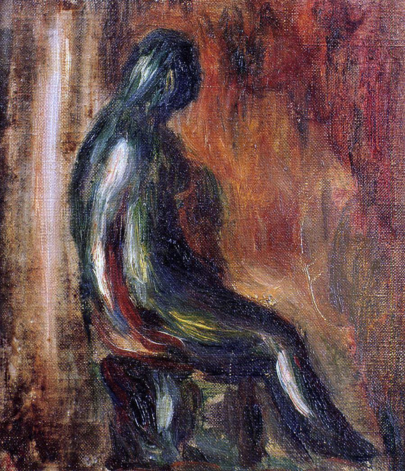 Pierre Auguste Renoir Study of a Statuette by Maillol - Canvas Art Print