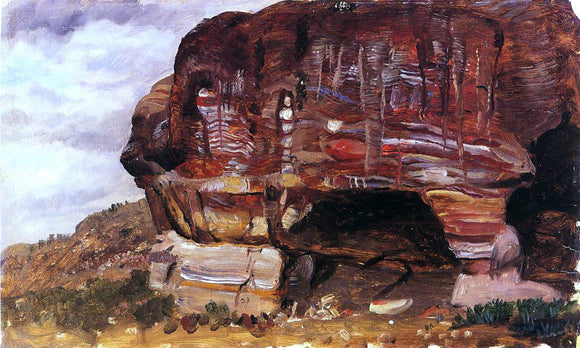 Frederic Edwin Church Study of Zoomorphic Rock, Petra - Canvas Art Print