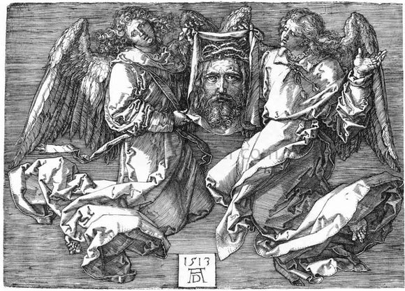 Albrecht Durer Sudarium Displayed by Two Angels - Canvas Art Print