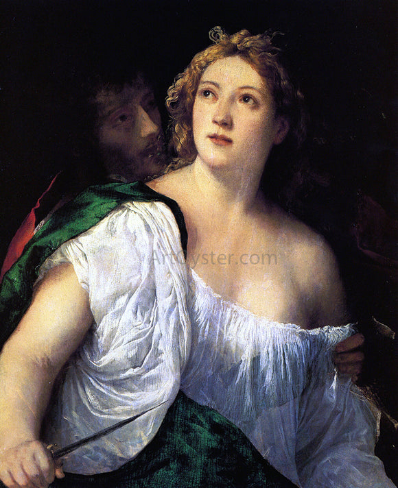 Titian Suicide of Lucretia - Canvas Art Print