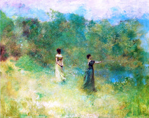 Thomas Wilmer Dewing Summer - Canvas Art Print
