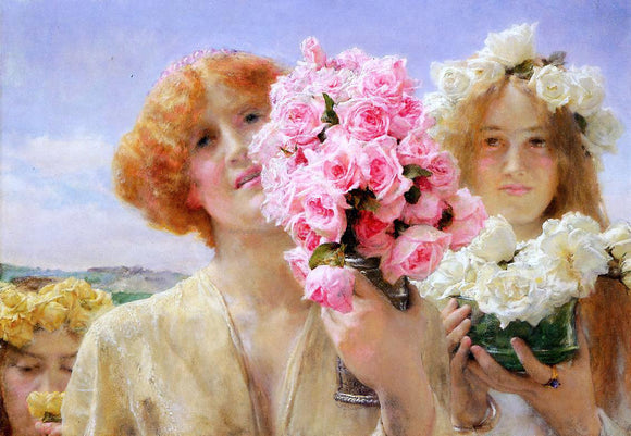 Sir Lawrence Alma-Tadema Summer Offering - Canvas Art Print