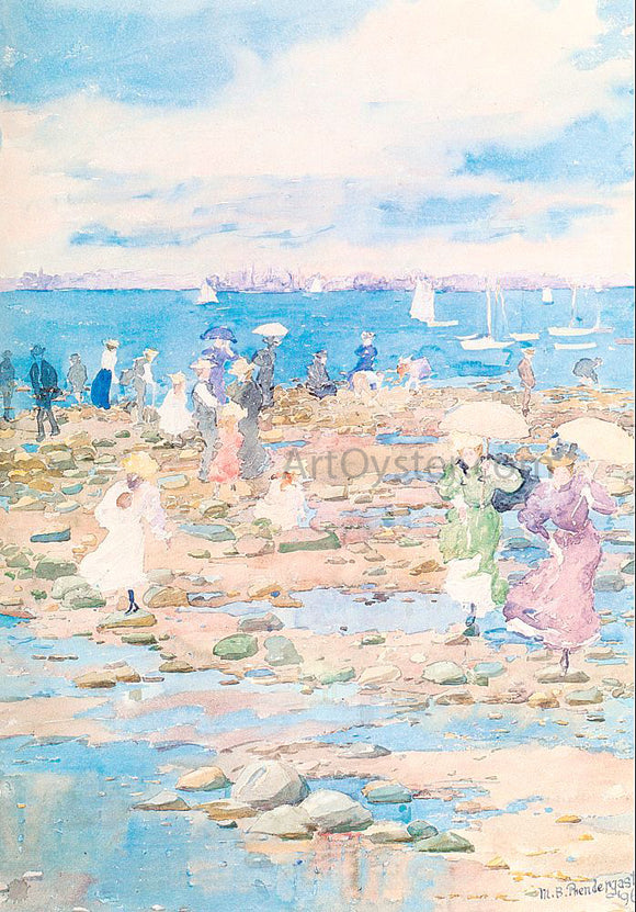 Maurice Prendergast Summer Visitors - Canvas Art Print