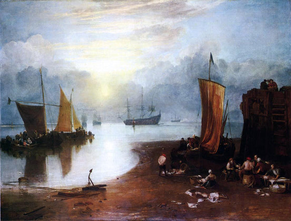 Joseph William Turner Sunrise, with a Boat between Headlands - Canvas Art Print
