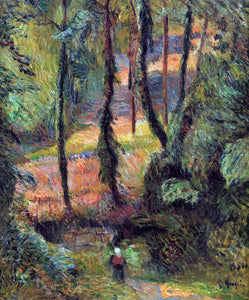 Paul Gauguin Sunken Path, Wooded Rose - Canvas Art Print