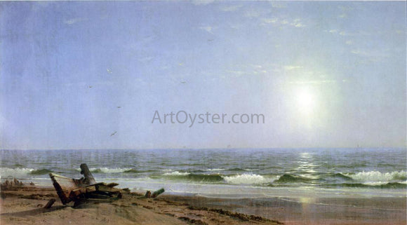 William Trost Richards Sunlight on the Shore - Canvas Art Print
