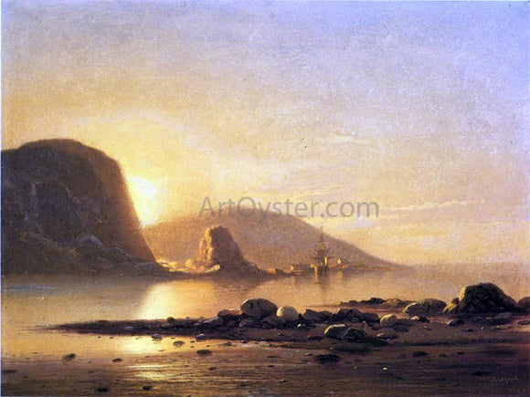 William Bradford Sunrise Cove - Canvas Art Print