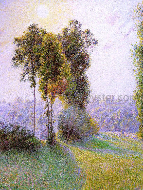 Camille Pissarro Sunset at St. Charles, Eragny - Canvas Art Print