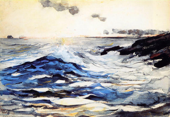 Winslow Homer Sunset, Prout's Neck - Canvas Art Print