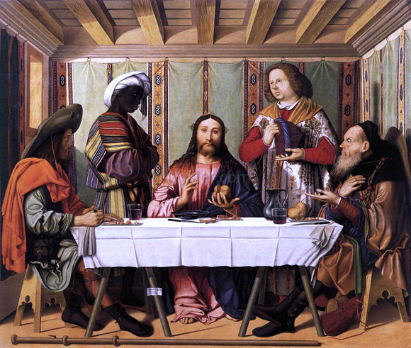 Marco Marziale Supper at Emmaus - Canvas Art Print