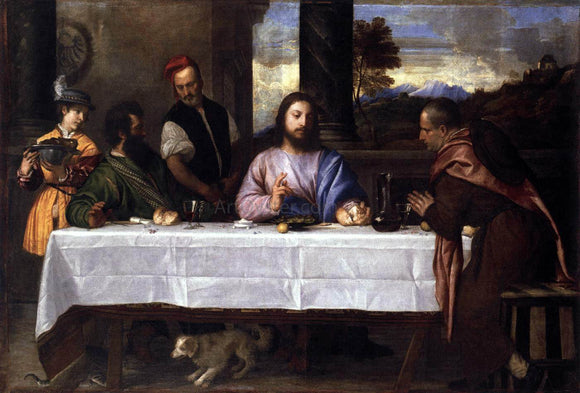 Titian Supper at Emmaus - Canvas Art Print